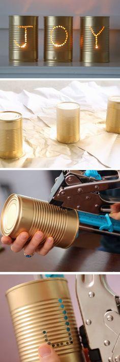 Joy Luminaries | 25+ DIY Christmas Decor Ideas for the Home