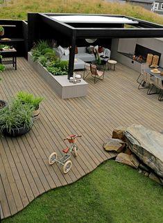 TV GARDEN DESIGN – TV2 2021 Backyard Pavilion, Backyard Garden Design, Garden Landscape Design, Terrace Garden, Backyard Landscaping, Modern Patio Design, Outdoor Patio Designs, Garden Sitting Areas, Garden Fence Panels