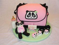Panda Diaper Bag Cake — Baby Shower