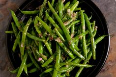 French Green Bean Salad:  Crisp green beans tossed in a mustardy dressing make for an easy and elegant weeknight side dish.