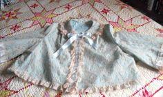 ODETTE BARSA Vintage BEDJACKET Nylon Trimmed With Lace and Ribbons