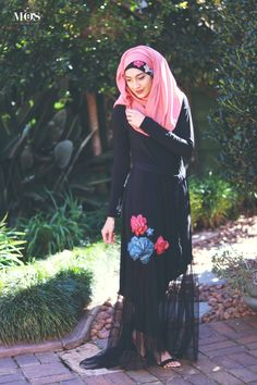 Tulle Hi-Low Dress by Ruhee Collection   My Online Souk   www.myonlinesouk.co.za Hi Low Dresses, Modest Dresses, Eid, Tulle, Clothes, Collection, Design, Fashion, Tall Clothing
