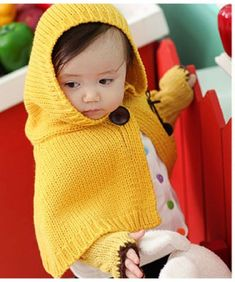 6058c97ebd1 Bright Yellow Colored Designer Newborn Baby Cloak with Earmuffs and Gloves