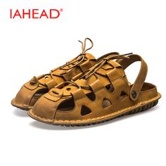 591a3ba57e3f12 2017 Man Sandals Lace-Up Casual Shoes Men shoes Men s Summer Fashion  Outdoor Breathable Walking