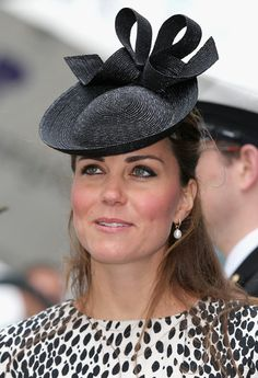 In This Photo: Kate Middleton Catherine, Duchess of Cambridge disembarks the Royal Princess after receiveing a tour on board after the Princess Cruises ship naming ceremony at Ocean Terminal on June 2013 in Southampton, England. Kate Middleton Hats, Princesse Kate Middleton, Duchess Kate, Duke And Duchess, Duchess Of Cambridge, Prince William And Catherine, William Kate, Royal Princess, Princess Charlotte