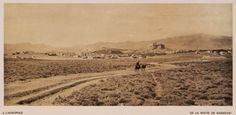 1919.The Acropolis of Athens, seen from the route to Kaisariani.