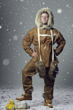 Feeling chilly? Dermot O'Leary explained his love for legendary polar explorder Ernest Shackleton, and dressed up in a furry hooded coat, heavy boots... and snow