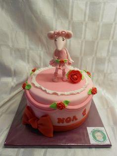 Angelina Ballerina cake, By De Ouwe Taart
