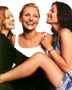 with Cameron Diaz & Lucy Liu in a photo from Premiere magazine - September 2000