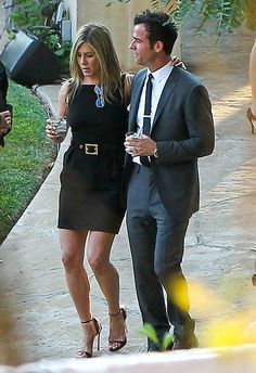 Jennifer Aniston, Justin Theroux Attend Jimmy Kimmel's Wedding - UsMagazine.com