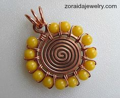 Beaded Spiral Pendant Tutorial by Zoraida / http://artzjewelry.wordpress.com/2013/01/09/beaded-spiral-pendant-tutorial/#