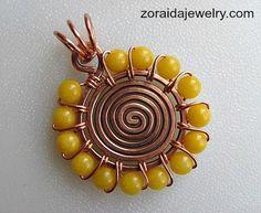 Beaded Spiral Pendant Tutorial by Zoraida / http://artzjewelry.wordpress.com/2013/01/09/beaded-spiral-pendant-tutorial/#