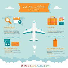 Infografica para viajar con niños en avión