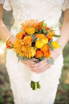 bouquet mariée, mariage, wedding, bride, flowers, fleurs, orange