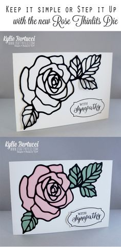 Kylie Bertucci - Rose Wonder and Rose Garden Thinlits Dies. Click on the picture to find out about this gorgeous Stamp set and thinlits #rosewonder #rosegardenthinlitdies #kyliebertucci