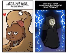Difference between Jedi and sith