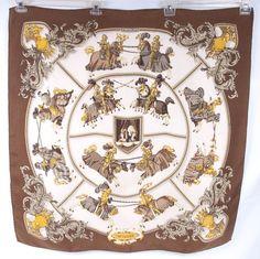 Hermes Scarf Carre Chevalerie Halstuch VGUC | eBay