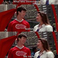 Ferris Bueller's Day Off when people try to help me with college decisions...sheesh