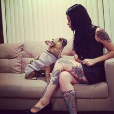 French bulldog n chick with ink
