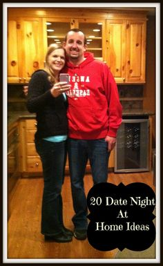 20 Date Night At Home Ideas No need to leave the house to date your spouse, here are 20 ideas for date night at home. #marriage #date