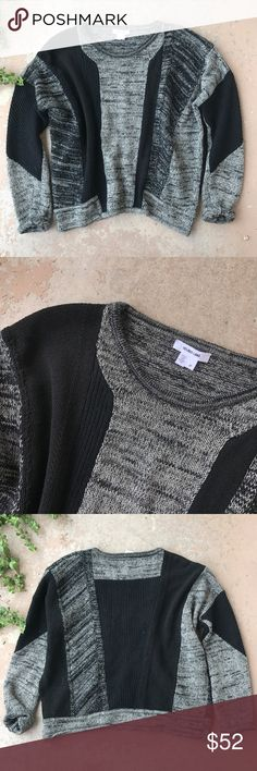 Helmut Lang Chunky Oversized Colorblock Sweater Helmut Lang pullover sweater in excellent condition. Linen/cotton/nylon/wool/silk/alpaca. Rolled cuffed sleeves and a scoop neck. Size P (Small). In excellent condition! Helmut Lang Sweaters