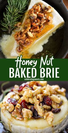 Baked Brie Recipes, Recipes With Brie Cheese Appetizers, Baked Brie Toppings, Appetizer Recipes, Potluck Appetizers, Snack Recipes, How To Cook Brie, Baked Brie Honey, Recipes