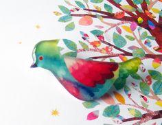 Kiyomi Saitou - Resin brooch / 鳥 bird