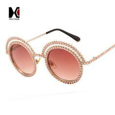Fashion Venetian Pearl Decoration Sunglasses Brand Designer Luxury Women Round Sun Glasses Shades Spring Summer Style Eyewear