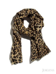 Leopard Scarf: This leopard print adds spice to a neutral classic!