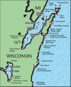 Door County, WI #lighthouses #WIhistory