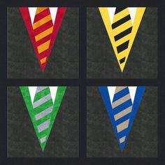 Hogwarts Gryffindor Uniform Robes Harry Potter by PopularQuilt Harry Potter House Colors, Harry Potter Scarf, Harry Potter Quilt, Harry Potter Houses, Harry Potter Diy, Harry Potter Patch, Paper Piecing Patterns, Quilt Patterns, Applique Patterns