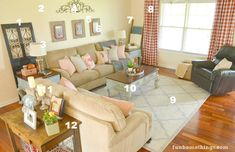French Country Living Room Makeover Sources