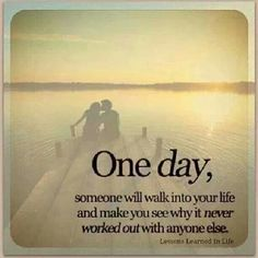One day soon