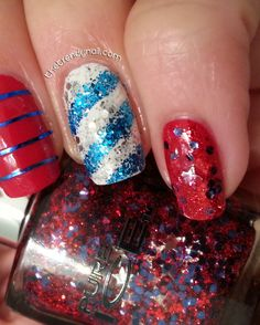Independence Day Nails!  @Pure Ice Nail Polish Stars & Stripes Collection. New nail art tutorial @The Trendy Nail