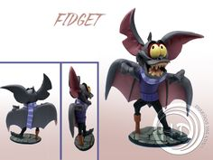 "Figura de Fidget, el secuaz de Rátigan, el villano de ""Básil, el ratón superdetective"" de Disney. Figura de 12-13 cm aprox. Hecha totalmente a mano. Materiales: arcilla polimérica FIMO. Donald Duck, Sonic The Hedgehog, Disney Characters, Fictional Characters, Ideas, Polymer Clay, Fimo, Thoughts, Fantasy Characters"