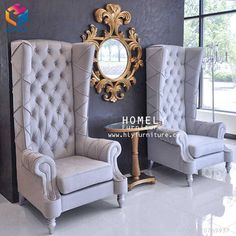 Buy Designer High Back Chair for your commercial design needs or your elegant home decor Royal Furniture, Home Decor Furniture, Unique Furniture, Home Decor Bedroom, Furniture Design, Garden Furniture, Wood Furniture, Upholstered Chairs, Wingback Chair