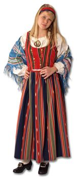 Ilmajoki Folk Costume, Costumes, Traditional Dresses, Finland, Denmark, Norway, Sweden, Southern, Clothes