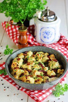 Kalafior zapiekany z boczkiem Pasta Salad, Potato Salad, Food And Drink, Cooking Recipes, Yummy Food, Lunch, Ethnic Recipes, Blog, Tarts
