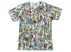 Where's Waldo Tee.  Comme des Garcons x Wheres Wally Collection