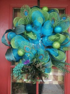 Peacock wreath- ( I like the color on it, but it too much on the wreath).