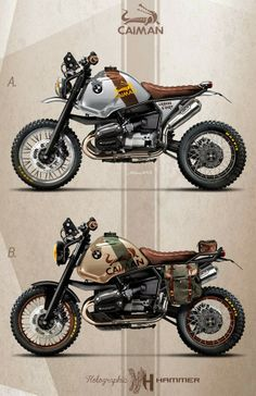 "Cafè Racer Concepts - Bmw R1100 GS ""Caiman Urban & Dirt"" by Holographic Hammer"