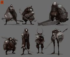 Substrata Land Dwellers Lineup by ~fightpunch on deviantART