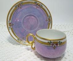 Limoges Porcelain Teacup and Saucer
