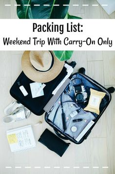 The ultimate packing list for carry-on only weekend trips! A list of everything you should take when travelling with cabin bags only, and how to make the most out of what you take with you.