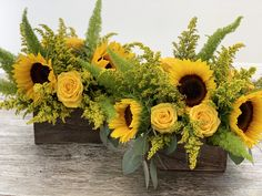 "Never too much of a sunshine, even in Florida! ""Walking on Sunshine"", arrangement designed by Doral Orchids. D-Or, Enjoy the Beauty of Nature! Sunflower Floral Arrangements, Sunflower Centerpieces, Church Flower Arrangements, Floral Centerpieces, Sunflowers And Roses, Fall Flowers, Flowers Garden, Yellow Roses, Pink Roses"