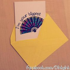 I'm your Biggest Fan Quirky Funny Greeting Card by DinkyInkStudio, €2.00