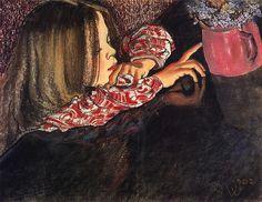Helena with flowers / Stanislaw Wyspianski (1889- 1907, Polen), 1902