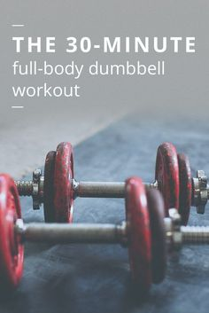 Don't have access to a gym? No problem. All you need is a few dumbbells at home in order to get an effective, full-body workou