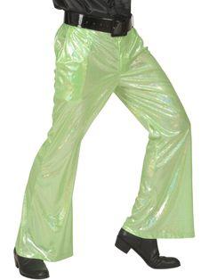 3f62c6f2 Holografiske disko-bukser grønne, køb Kostumer til voksne på Vegaoo.dk.  Langt