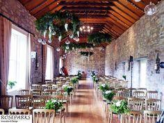 Hanging decorative florals at Kirknewton Stables. Wedding Venues, Wedding Ideas, Centerpieces, Table Decorations, Stables, Florals, House, Furniture, Home Decor